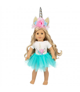 """Ecore Fun America 16-18 Inch Unicorn Doll Clothes for 