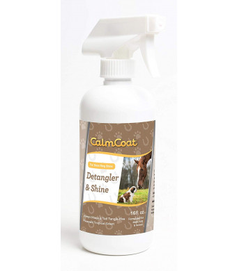 Calm Coat Detangler and Shine for Horses Cats and Dogs - Eliminates Tangles and Knots - Keeps Your Pet Cleaner for Longer - Works with Shampoo and Conditioner - Tropical Scent