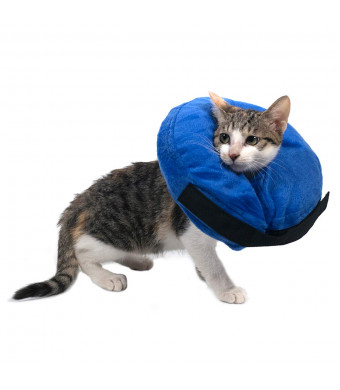 warmpet Protective Inflatable Dog Cat Collar-Soft Recovery Cone for Cats and Dogs Injuries Rashes and Post-Surgery Wounds