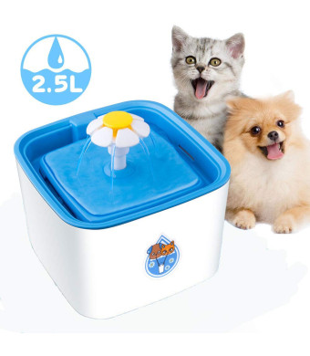 Msheng Cat Fountain 2.5L Automatic Pet Water Fountain Pet Water Dispenser, Dog/Cat Health Caring Fountain and Hygienic Dog Fountain