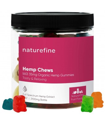 Hemp Gummies - Zero THC CBD Oil Cannabidiol - 2100 MG - 35 MG per Gummie - Full Spectrum Hemp Oil for Pain Relief - Relieves Stress and Anxiety, Overall Health - Grown and Made in The USA