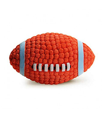 LifeCom Latex Dog Play-Chew-Fetch Ball/Squeaky Dog Play Rugby/Football for Pet Toy/Floating Ball for Toy Interactive Fetch and Play