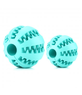 Dog Ball Toys for Pet Tooth Cleaning/Chewing/Playing/Treat Dispensing,Boredom IQ Treat Balls Slow Feed Toys for Small Large Dogs Cats ,Minty Natural rubber balls,Feeding food balls,educational toy