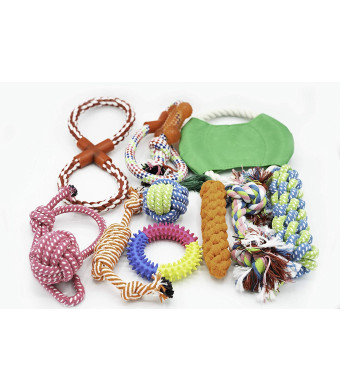 Absolute AMZ Assorted Dog Chew Toys 10 Pack