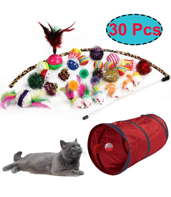 M JJYPET Cat Toys Kitten Toys Assortments,Crinkle Balls for Cat,Puppy,Kitty,Kitten
