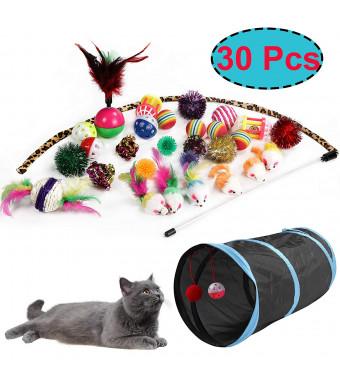 M JJYPET Cat Toys Kitten Toys Assortments,Crinkle Balls for Cat,Puppy,Kitty,Kitten