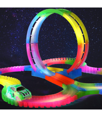 Fannel 132PCS Magic Race Tracks Car Toys for Kids