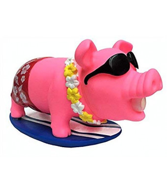 Animolds Surf Piggie The Surfing and Snorting Pig Stress Relief Squeeze Toy, Ideal Funny Novelty and Gag Gifts - The Perfect Sensory Toys for Kids or Prank Toy for The Office (Random Color)