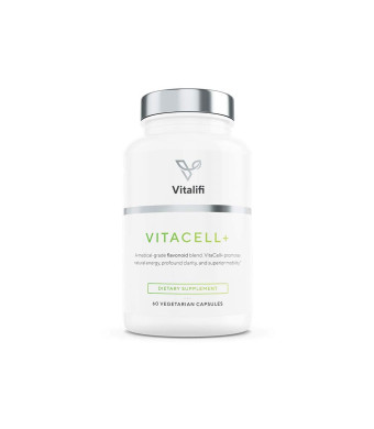 Vitacell+ Longvida Optimized Liposomal Curcumin Capsules for Joint Support, Clarity, Higher Energy w/Clinically Tested Premium Ingredients - Quercetin, Resveratrol, Boswellia Serrata Extract and More