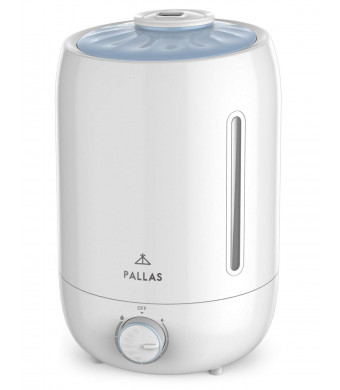 Pallas [2019] Humidifier - 5L Cool Mist Ultrasonic Humidifier for Bedroom, Baby, Home, Vaporizer for Large Room with Adjustable Mist Knob 360 Rotatable Mist Outlet
