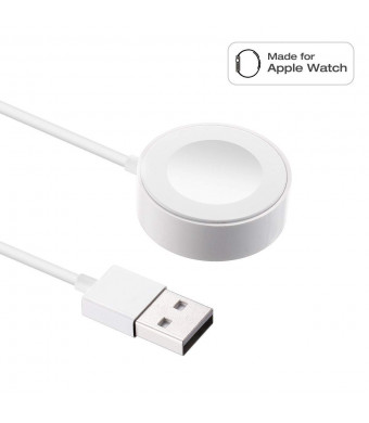 Watch Charger Charging Cable Magnetic Wireless Portable Charger Charging Cable Cord Compatible for Apple Watch Series 4 3 2 1 44mm 40mm 42mm 38mm (3.3 FT)