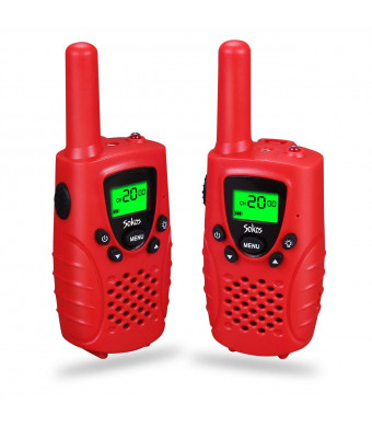 Sokos Walkie Talkies for Kids, 2-Way Radios 3 Miles (Up to 5Miles) FRS/GMRS Handheld Mini Walky Talky for Kids, Electronic Toys Gifts for Girls/Boys