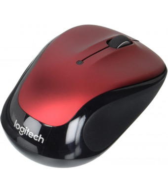 """Logitech Laser Wireless Mouse-Wireless Laser Mouse, 2-1/2""""x-4-1/2""""x1-3/4"""", Red"""