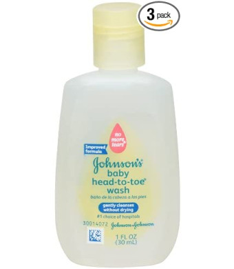 Johnson's Baby Wash, Head-to-Toe, 1 Ounce (Pack of 3)