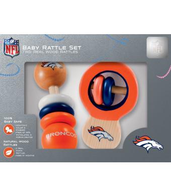 NFL Denver Broncos Baby Rattle Set - 2 Pack