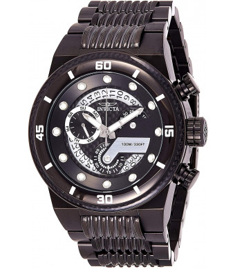 Invicta Men's S1 Rally Quartz Watch with Stainless-Steel Strap, Black, 30 (Model: 25284)