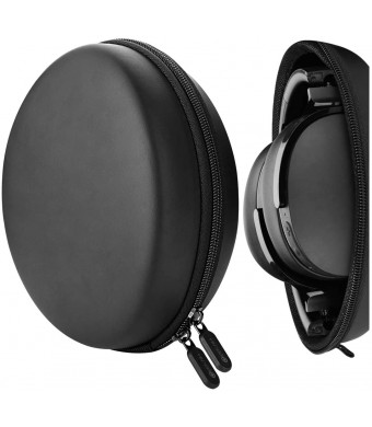 Geekria UltraShell Headphone Case for Skullcandy Crusher Wireless, Hesh 3, Crusher 360 Headphones, Replacement Protective Hard Shell Travel Carrying Bag with Room for Accessories (Black Pu)
