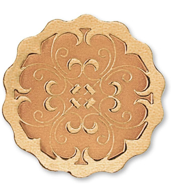 Scalloped Embossed Foil Certificate Seals, 32 Count (Bronze)