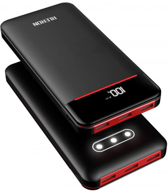 Power Bank 25000mAh Portable Charger Battery Pack with 3 Outputs and 2 Inputs Huge Capacity Backup Battery Compatible Smartphone,Tablet and More