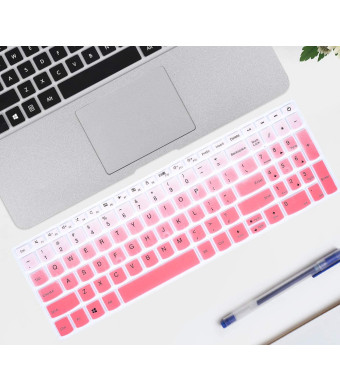 """iKammo Keyboard Covers Compatible with 15.6"""" Lenovo ideapad 320 330 330s 520 720s 130 S145 L340 S340,17.3"""" Lenovo ideapad 320 330,Lenovo 15.6"""" AMD Radeon A12-9720P Keyboard Covers (Ombre Pink)"""
