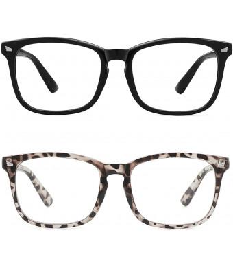 MEETSUN Blue Light Blocking Glasses, Anti Eye Strain Headache (Sleep Better),Computer Reading Glasses UV400 Transparent Lens
