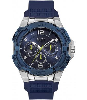 Guess Genesis Mens Analog Quartz Watch with Silicone Bracelet W1254G1