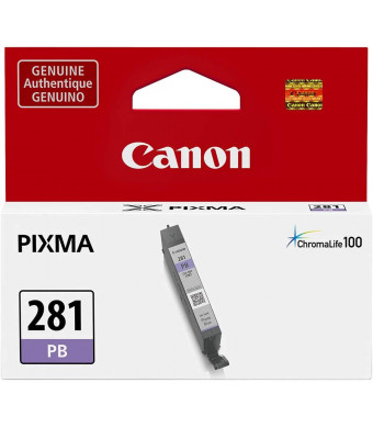 Canon 2092C001 (CLI-281) ChromaLife100 Ink Cartridge (Blue) in Retail Packaging