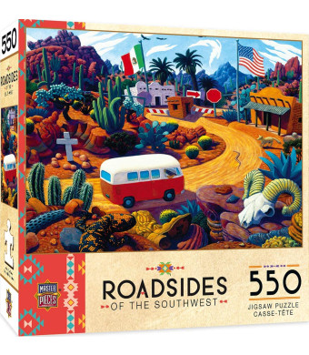 MasterPieces Roadsides of The Southwest Jigsaw Puzzle, Touring Time, Featuring Art by Steven Morath, 550 Pieces