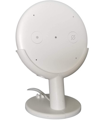 Dot Genie Echo Input Mount Stand Pedestal for Home Theater. Improves Microphone Response. Improves Visibility. Improves Appearance (White)