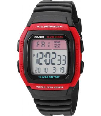 Casio Men's Classic Quartz Resin Strap, Black, 24.5 Casual Watch (Model: W-96H-4AVCF)