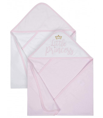 Organic Cotton Terry Hooded Towels, 2pk (Baby Girl)