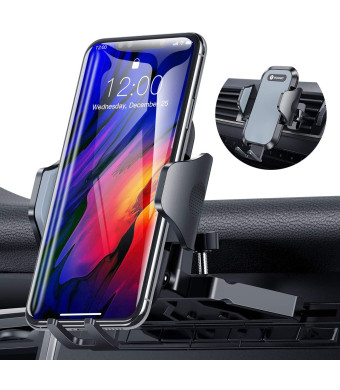 Ultra Stable Car Phone Mount, VICSEED NEWEST CD Slot and Air Vent Universal Cell Phone Holder for Car, Fit for iPhone SE 11 Pro Max Xs Xr X 9 8 7 Plus, Galaxy Note 10 S20 S20+ S10+ S10 S9 Google LG Etc.