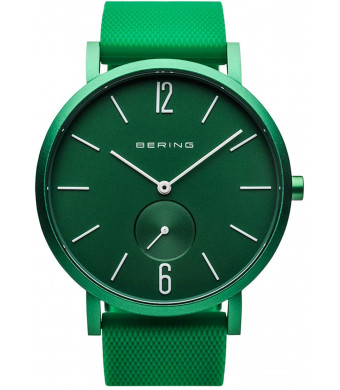 BERING Time   Unisex Slim Watch 16940-899   40MM Case   True Aurora Collection   Silicone Strap   Scratch-Resistant Sapphire Crystal   Minimalistic - Designed in Denmark