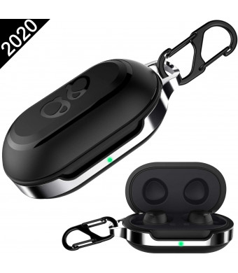 HALLEAST for Galaxy Buds Case Cover, Galaxy Buds+ Plus Carrying Case TPU Full Protective Skin with Keychain Compatible Samsung Galaxy Buds Wireless 2019 2020 Earbuds Accessories, Black
