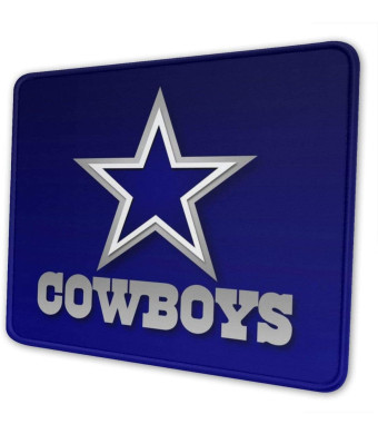 Dallas Cowboy Mouse Pad with Stitched Edge, Blue Customized Design Mousepad Non-Slip Rubber Large Gaming Mouse Pad for Laptop, Computer and Office, 11.8 X 9.8 X 0.12Inch