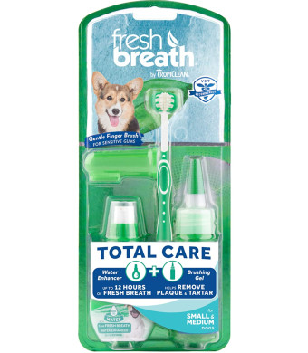 Fresh Breath by TropiClean Total Care Kit for Small Dogs, 2oz