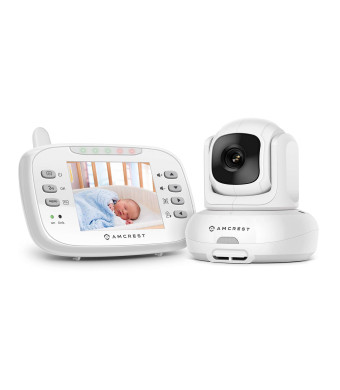 Amcrest AC-2 Video Baby Monitor with Camera and Audio, 3 LCD Display, Two-Way Audio, Temperature and Voice/Audio Alarm, VOX Mode, Pan/Tilt/Zoom Security Camera, Night Vision, 980ft Transmission Range