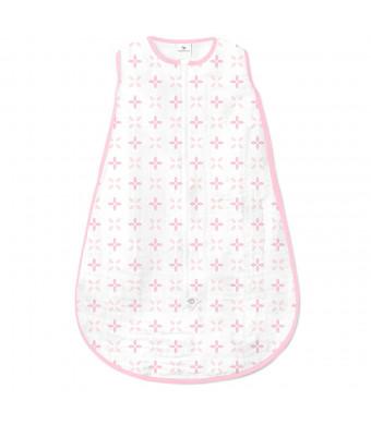 Amazing Baby Muslin Sleeping Sack with 2-Way Zipper, Springfield, Pink, Medium