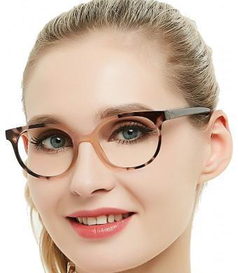 OCCI CHIARI Blue Light Blocking Computer Glasses for UV Protection Anti Eyestrain Anti Glare Lens Lightweight Frame Eyeglasses Black Frame,Women