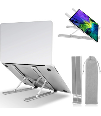 """OUSI Portable Laptop Stand,Adjustable Foldable Laptop Holder,Aluminum Ventilated Laptop Notebook Stand,9-Angles for 10-15.6"""" MacBook Air Pro,Lenovo,Dell,Alienware"""