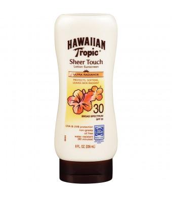 Hawaiian Tropic Sheer Touch SPF30 Sunblock Lotion - Ultra Radiance, 8-Fluid Ounce Bottles