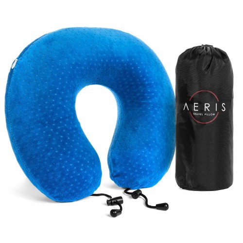 Aeris Memory Foam Travel Neck Pillow