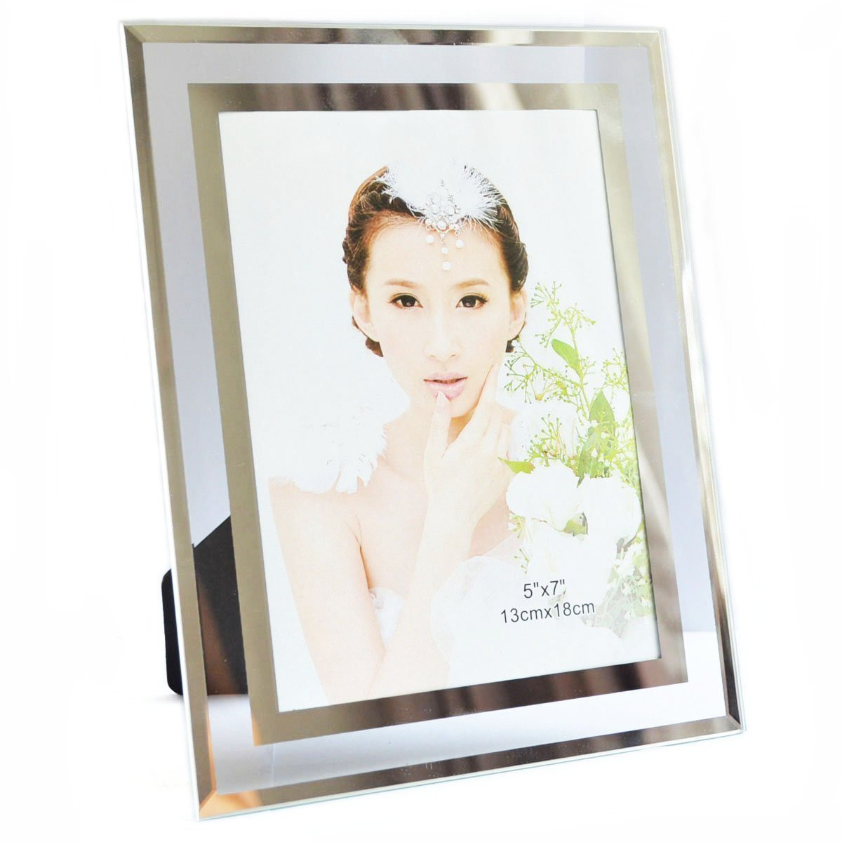 Gift Garden 5 By 7 Inch Picture Frame Modern Glass Frames For Home