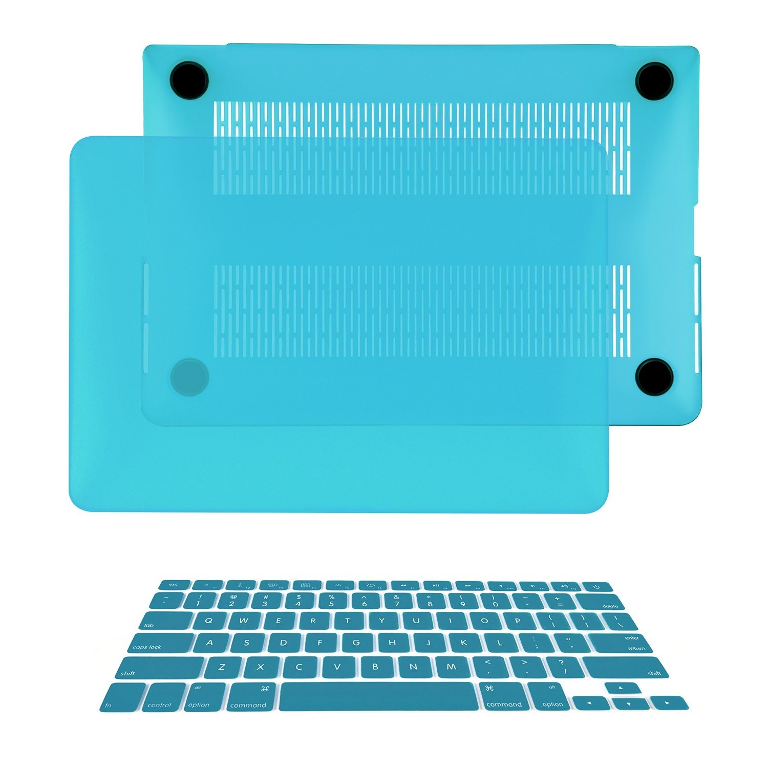"AQUA BLUE Rubberized Hard Case for NEW Macbook Pro 15/"" A1398 with Retina display"