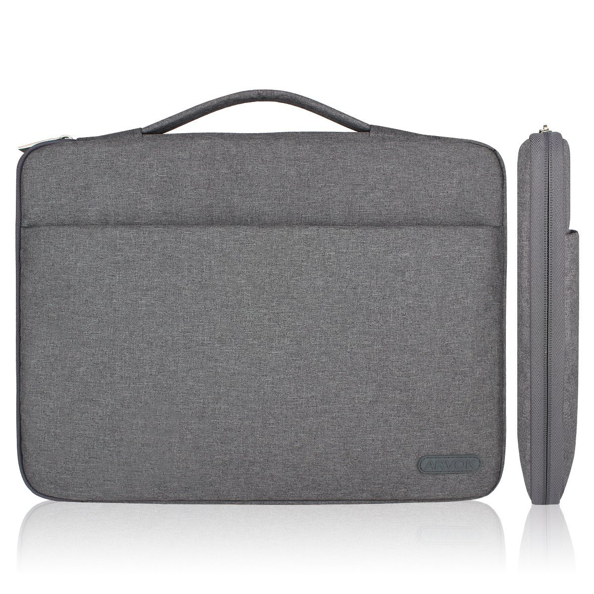 ae7a994d5e8c Arvok 13 13.3 14 Inch Water-resistant Canvas Fabric Laptop Sleeve With  Handle and Zipper Pocket/Notebook Computer Case/Ultrabook Tablet Briefcase  ...