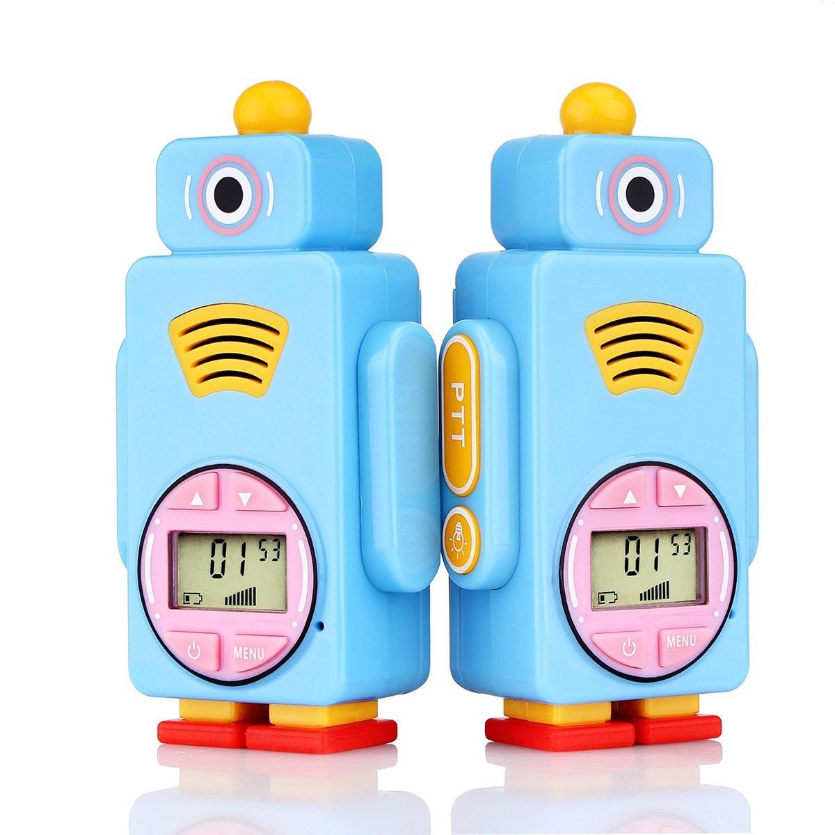 Retevis RT36 Kids Walkie Talkies Robot Toy long Range Crystal voice 14  Channels Vox Flash Light Best Walkie Talkie Rechargeable for Kids (2,pack)