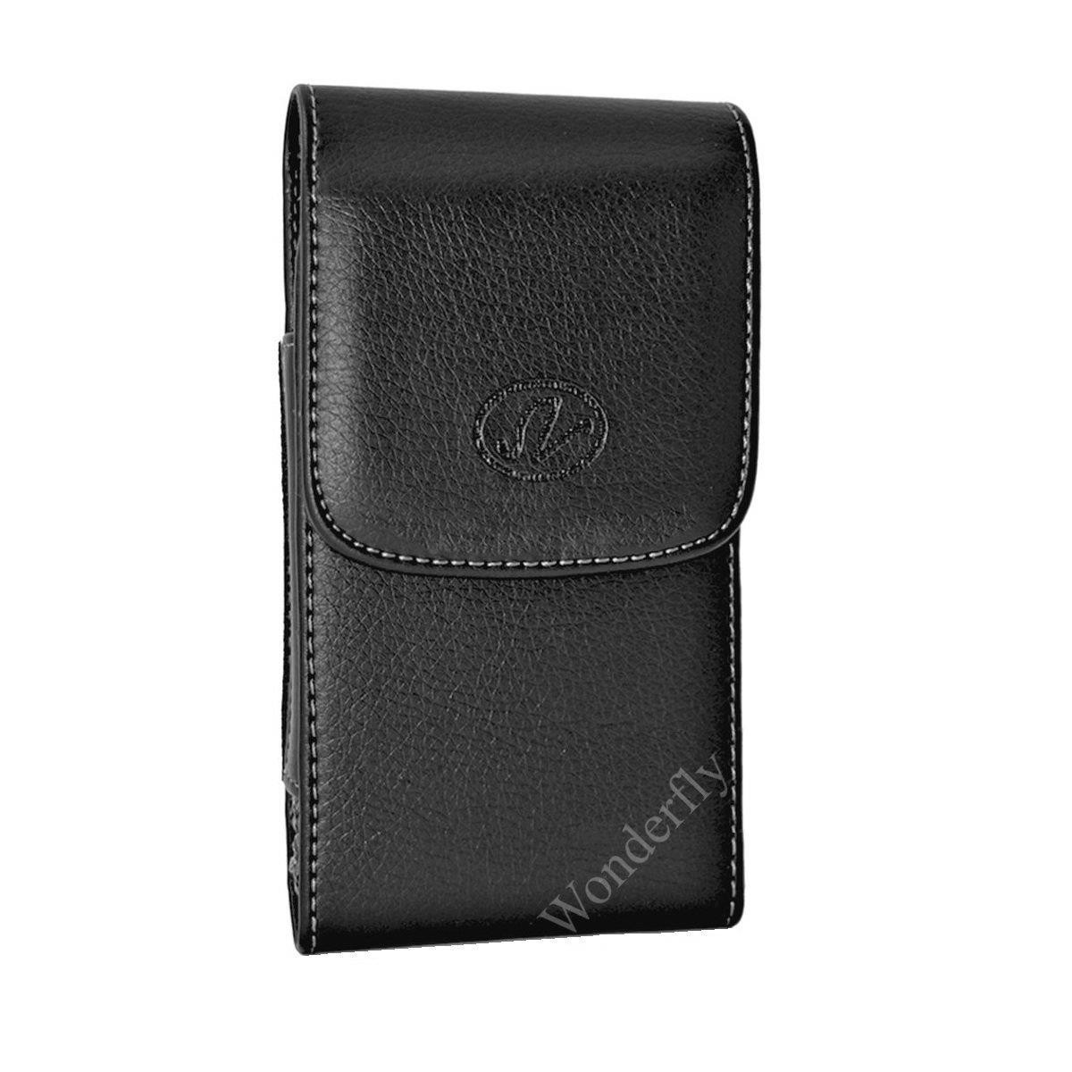 promo code 76116 bf2bf Wonderfly Holster for Apple iPhone 8 Plus, iPhone 7 Plus, iPhone 6s Plus or  iPhone 6 Plus, a Large Vertical Leather Carrying Case with Rotatable Belt  ...