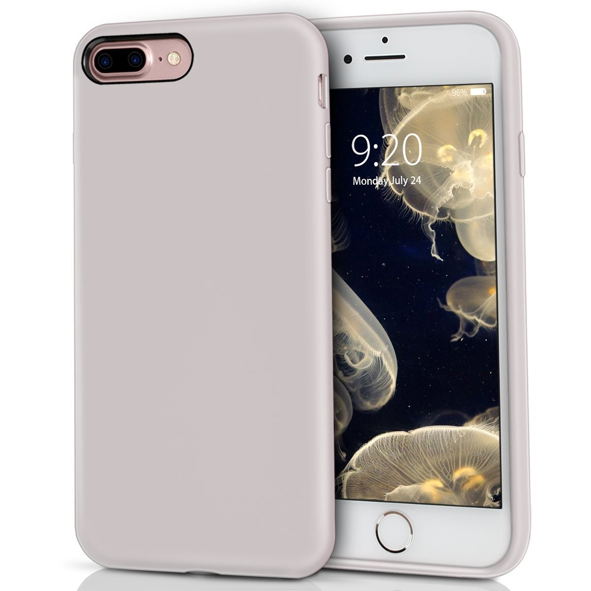 big sale e900a d6fdd iPhone 8 Plus Silicone Case, iPhone 7 Plus silicone case, Milprox Pretty  Series Liquid Silicone Gel Rubber Shockproof Case with Microfiber Cloth ...