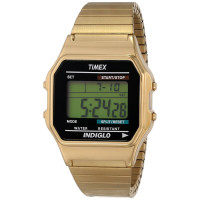 Timex Men's Classic Digital Gold-Tone Expansion Band Watch #T78677