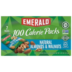 Emerald Natural Walnuts and Almonds, 100 Calorie Packs 0.56 Oz, 7 Ct